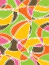 розовый ретро желтый цвет scribble Стоковые Фото