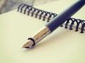 ручка и тетра ь Стоковая Фотография