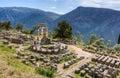 Святилище Афины Pronaia, Делфи, Греции Стоковые Фотографии RF