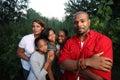 семья афроамериканца Стоковое Фото