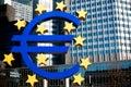 символ frankfurt евро Стоковые Фото