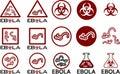 симво ы и текст значков ebola Стоковые Изображения