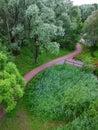 след парка Стоковое фото RF