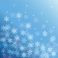 снег и и снежинка зимы Стоковые Фото