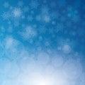 снег и и снежинка зимы Стоковая Фотография