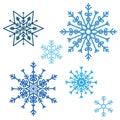 снег и и снежинка зимы Стоковые Фотографии RF