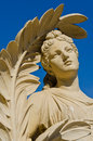 Статуя на дворце боли челки Стоковое Изображение