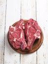 стейк свежего мяса сырцовый Стоковое фото RF