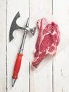 стейк свежего мяса Стоковая Фотография