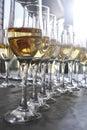 стек а обрам енные шампанским горизонта ьно сня и Стоковое Изображение