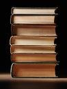 стог книг книга в твер ой об ожке Стоковые Фото