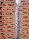 стог коробок пиццы Стоковые Фото