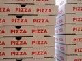 стог коробок пиццы Стоковые Фотографии RF