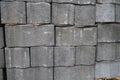 стог серых кирпичей цемента мостоваой Стоковая Фотография