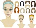 сторона girl.make-up.hairstyles.game Стоковое Изображение