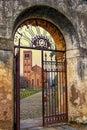 строб и церковь в monselice ита ии Стоковые Фотографии RF
