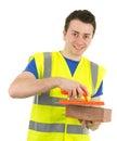 строитель счастливый Стоковое фото RF