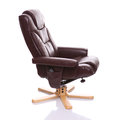 Стул recliner Brown кожаный Стоковое Изображение RF