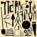 сarpentry tools carpentry silhouettes isolated objects a set of Royalty Free Stock Images
