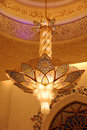 сhandelier inside of sheikh zayed mosque large chandelier in abu dhabi Stock Image