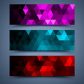 сolor banners abstract backgrounds mosaic Royalty Free Stock Photo