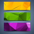 сolor banners abstract backgrounds poligonal Royalty Free Stock Images