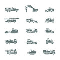 сonstruction machinery authors illustration in vector Royalty Free Stock Images