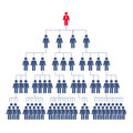 сorporate hierarchy network marketing with pictograms people Stock Image