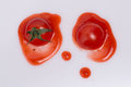 сrushed tomato and ketchup photo taken on january th Stock Image