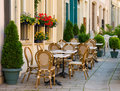 улица Люксембурга кафа Стоковое фото RF