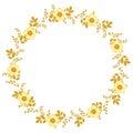 ф ористическая концепция рамки круга Стоковая Фотография