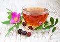 чай розового бе ра Стоковая Фотография