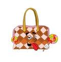 шарж сумки Стоковая Фотография