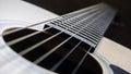 я ровое отверстие и строки акустической гитары Стоковое Изображение