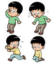 ฺboy expression set vector illustration of boy Stock Photos
