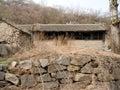 一个被放弃的村庄 免版税库存照片