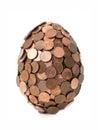 一个eurocent鸡蛋 库存图片