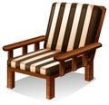 一套木椅子家具 图库摄影