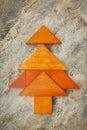 七巧板圣诞树 库存照片