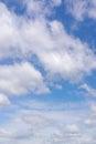 与云彩的美丽的蓝天 免版税库存照片