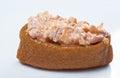 与螃蟹和獐鹿tobiko的inari寿司 库存照片
