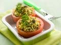 与选择聚焦的西红柿原料 免版税图库摄影