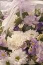 与鞋带丝带的花花束 免版税库存图片