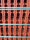 与 松石磁带的红砖 免版税库存图片