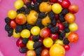 五颜六色,新鲜 果的汇集 免版税库存照片