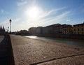 亚诺河河比萨 库存图片