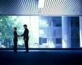 企业信号交换人 库存图片