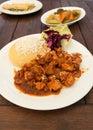 传 罗马尼亚猪肉炖煮的食物 库存照片