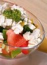 健康生活方式沙拉素食主义者 免版税库存图片