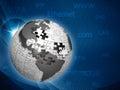 全球性信息网,抽象techno背景 免版税库存照片